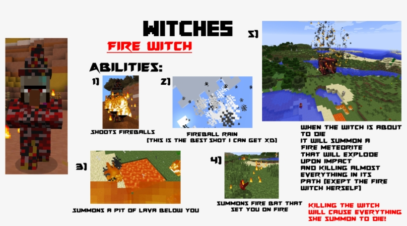 [1 - 7 - 10] [1 - 8] [v0 - 0 - 7] Elemental Witches - Elemental Witch Mod Minecraft, transparent png #6149709