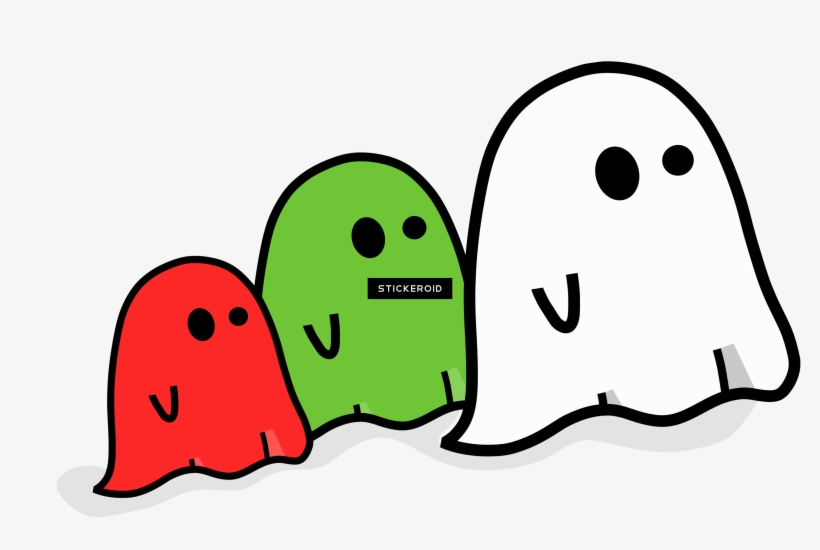 Pacman Pixel Blue Ghost - Cute Halloween Ghost Vector Png, transparent png #6161229