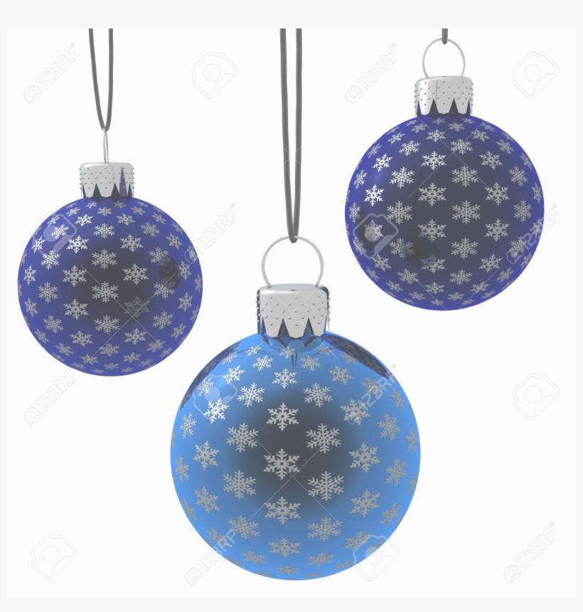 Navidad41 - Blue Christmas Balls Hanging, transparent png #6161690
