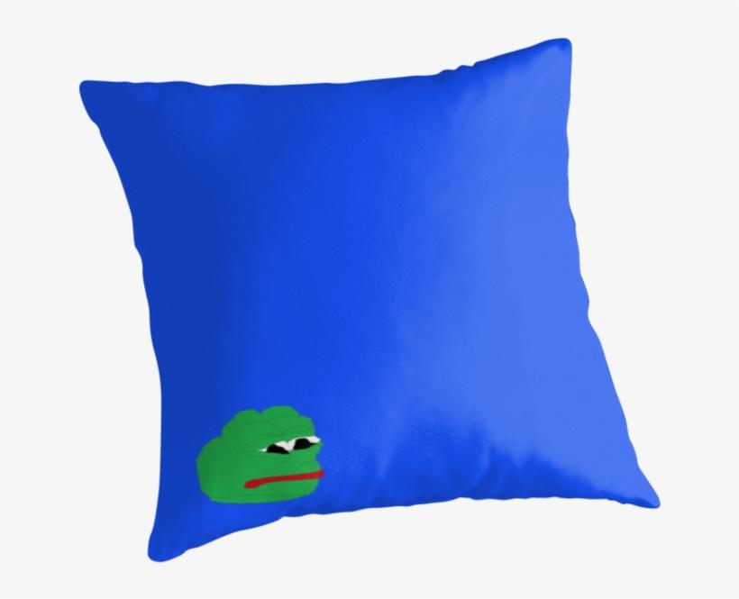 Ms Paint Pepe - Throw Pillow, transparent png #6174893