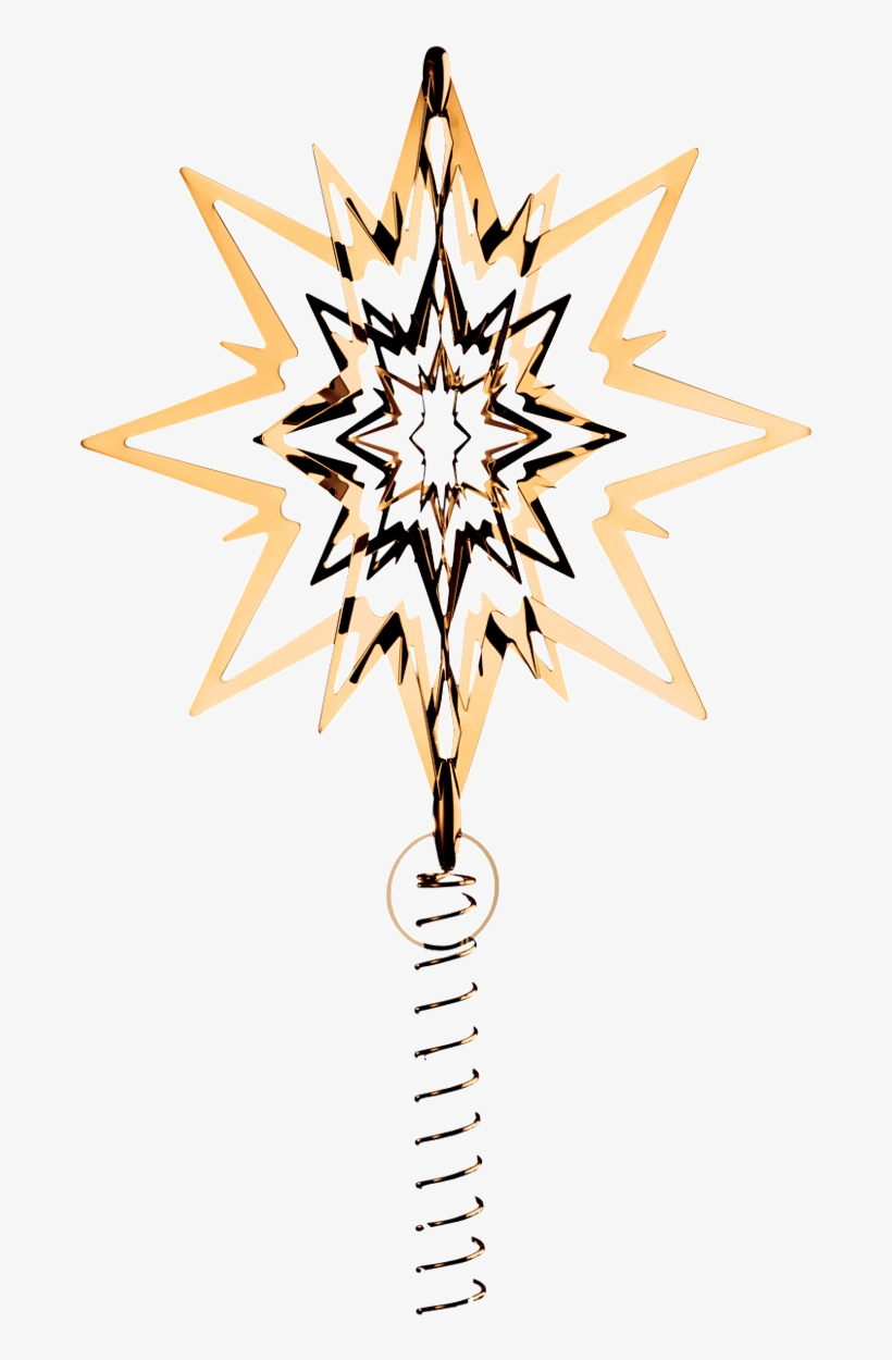 Christmas Tree Top Star - Georg Jensen Christmas Tree Star, transparent png #6176296