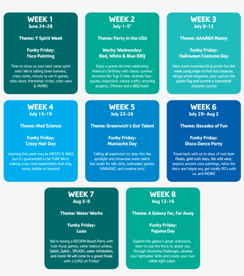 Summer Camp 2019 Weekly Themes - Summer Camp, transparent png #6183696