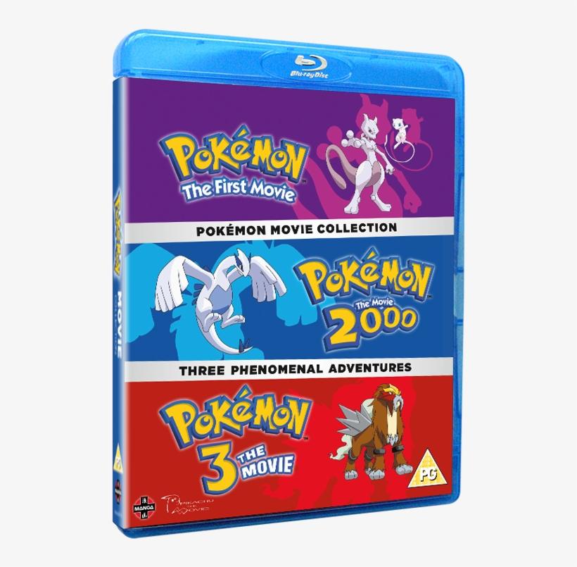 Pokemon Movie Collection - Pokemon Movie 1-3 Collection Blu-ray, transparent png #6189407