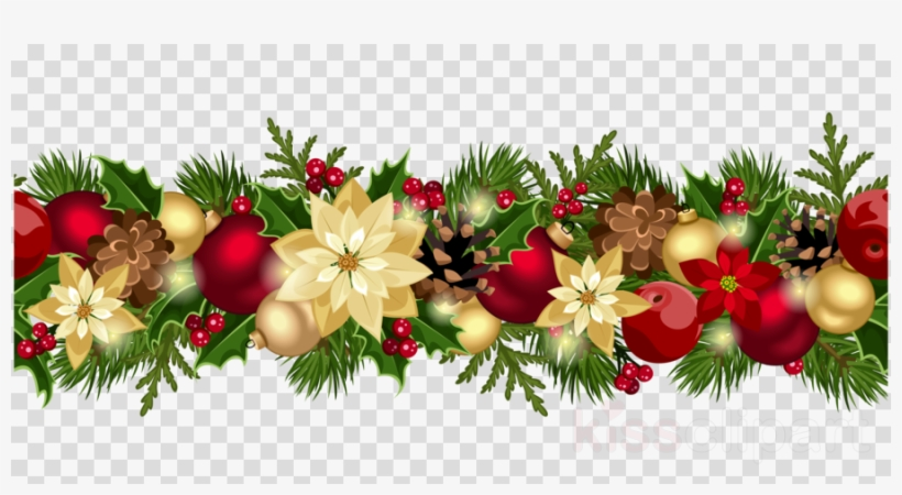 Christmas Clipart Transparent Background.Christmas Garland Border Png Clipart Garland Christmas