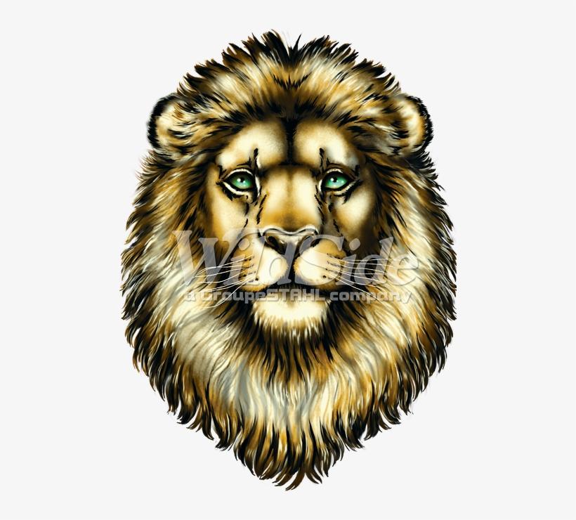 Lion Face - Big Face Roaring Lion Adult T-shirt The Mountain, transparent png #620459