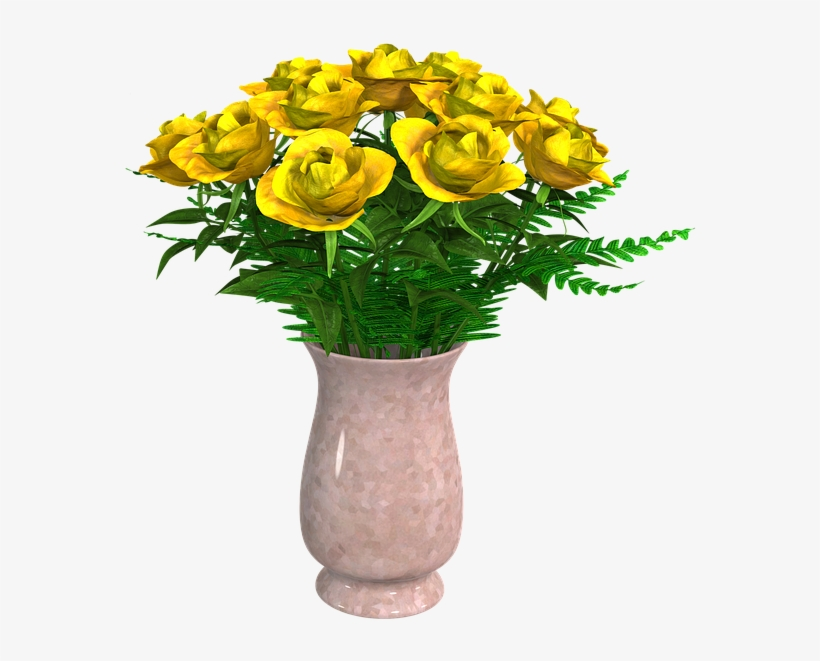 Flowers, Bouquet, Flower Vase, Arrangement, Vase - Flower Vase Png, transparent png #620873