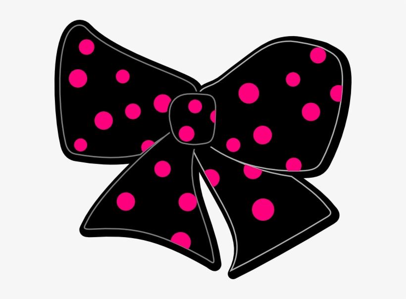 Bow With Polka Dots Hi - Pink Polka Dot Bow Clipart, transparent png #622513