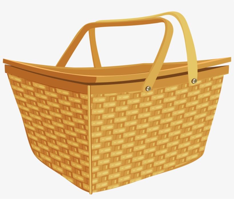 Picnic Basket Png Clip Art Image - Picnic Basket Clipart, transparent png #622563