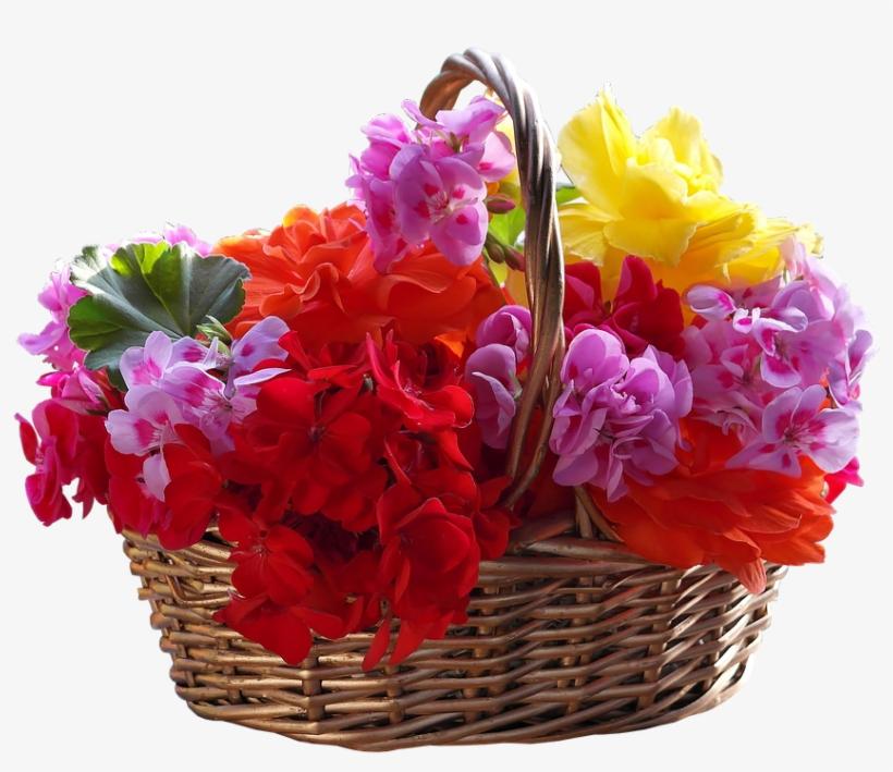 Basket, Bouquet, Flower, Easter, Ornament, Petal - Basket Of Flowers Png, transparent png #622645