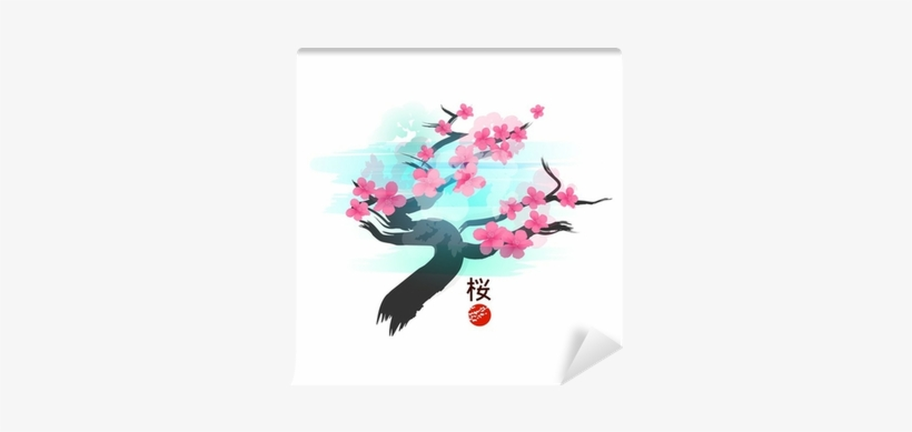 Japanese Cherry Blossom Tree Vector, transparent png #623356
