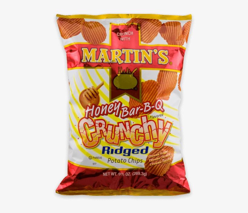Martin's Crunchy Ridged Potato Chips - Martins Crunchy Ridged Honey Bbq Potato Chips - 4 Oz, transparent png #623696