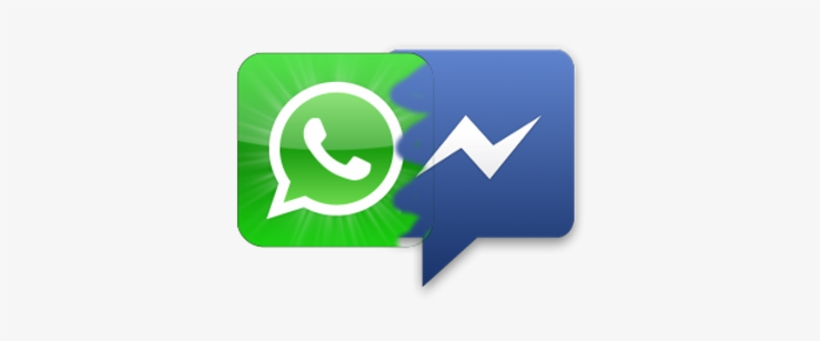 Facebook Whatsapp Messenger - Icone Facebook E Whatsapp, transparent png #623936