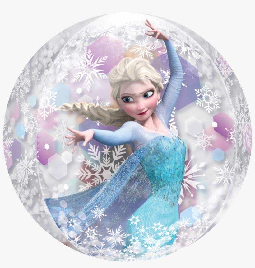 Frozen Elsa & Ana Clear Bubble Balloon Orbz - Frozen Orbz Balloon, transparent png #624060