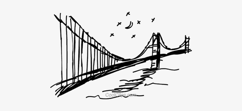 Golden Gate Bridge Royalty Free Vector Clip Art Illustration - Illustration, transparent png #625113