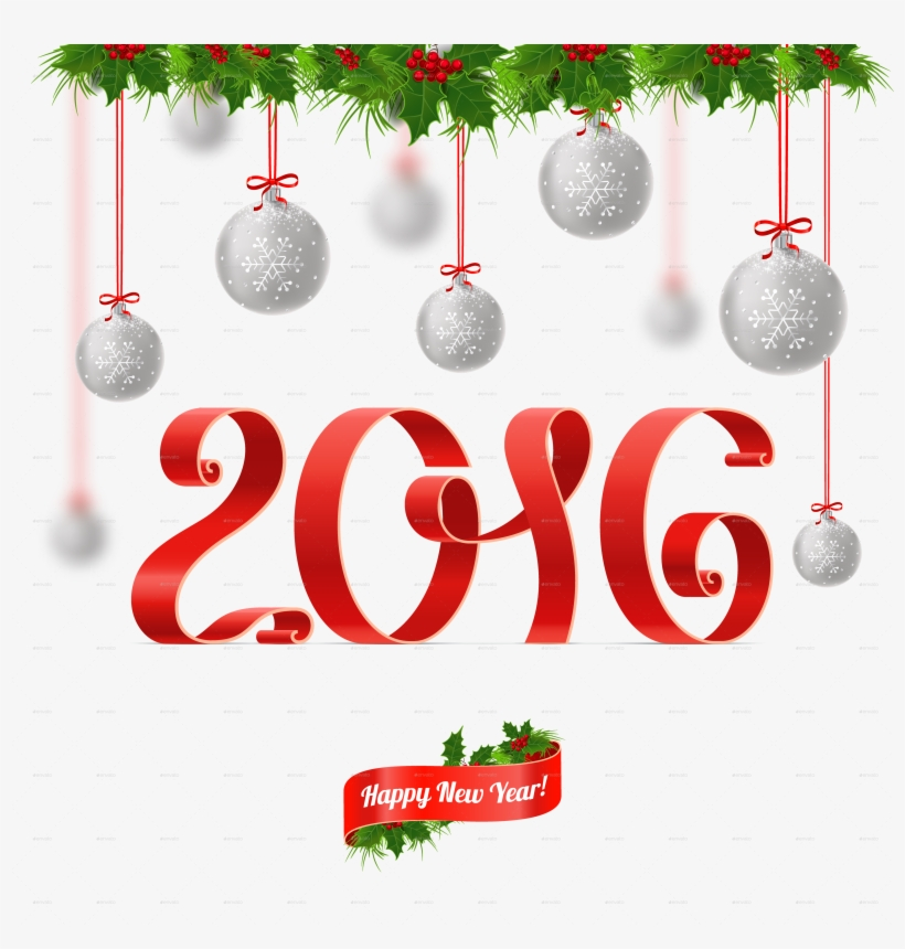 Merry Christmas And Happy New Year - Merry Christmas Balls And Happy New Year Transparent, transparent png #625232