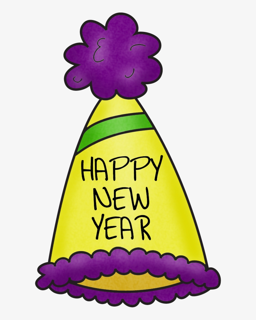 Happy New Year Hat Clipart - New Years Party Hats Clip Art, transparent png #625564