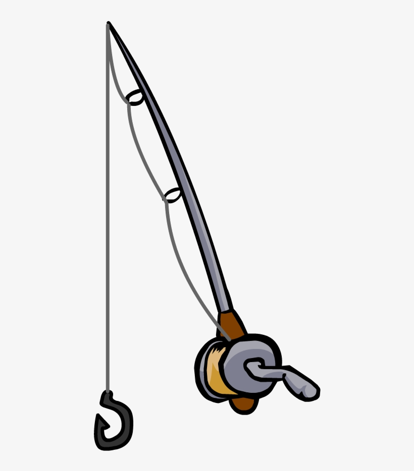 Fishing Rod Clipart Black And White - Easy Fishing Pole Drawing, transparent png #625918