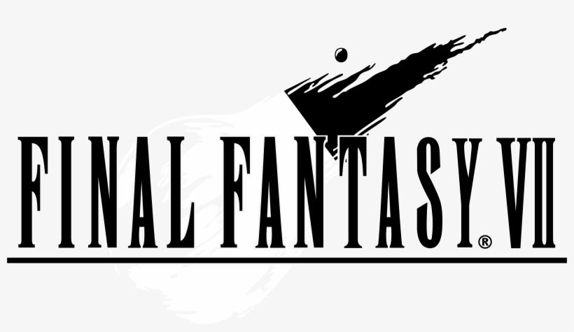 Final Fantasy Vii Logo Black And White - Final Fantasy Vii [playstation Game], transparent png #626173