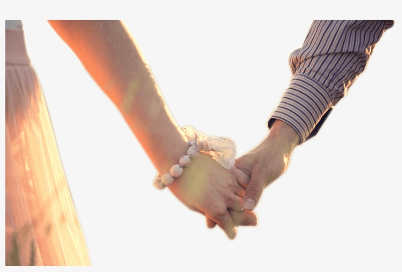Couple Holding Hands Png Png Black And White - Couple Holding Hands Png, transparent png #626226