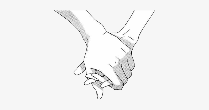 Love Cute Black And White Hands Care Shadow Holding - Holding Hands Art, transparent png #626365