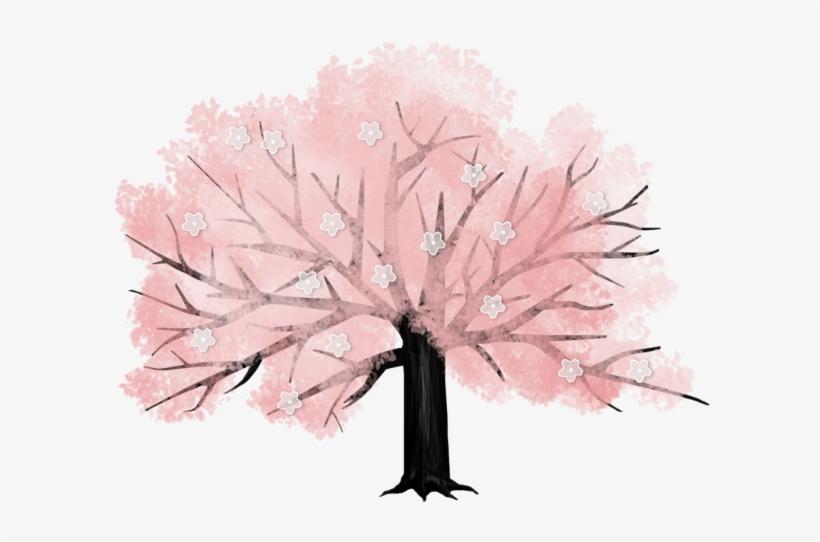 Arbre - Tree - Feuille Etc - - Cartoon Cherry Blossom Tree Transparent, transparent png #626963