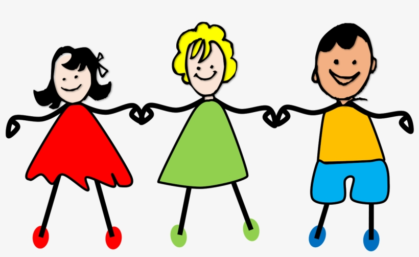 Kids Holding Hands Png Clipart Royalty Free Stock - Children Holding Hands Clipart Transparent, transparent png #627107