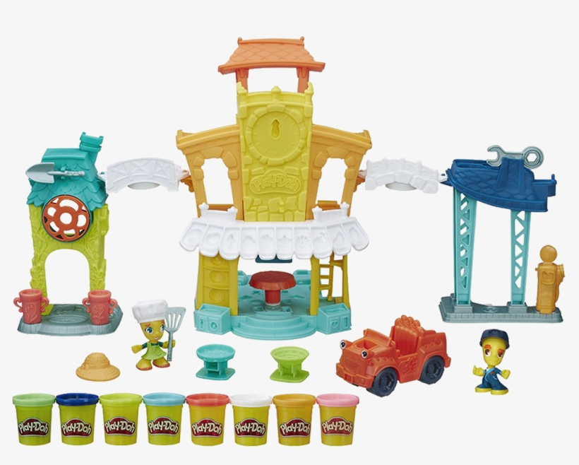 Play-doh Town 3 In 1 Town Centre - Play Doh 3 In 1 Town Center, transparent png #6200894