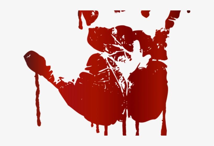 Handprint Clipart Blood - Hand Print - Free Transparent PNG