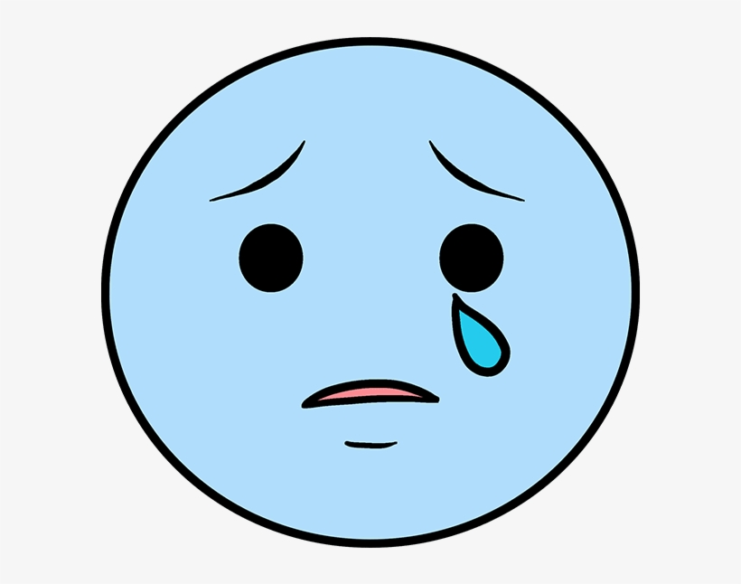 How To Draw Crying Emoji - Smiley Face, transparent png #6204452