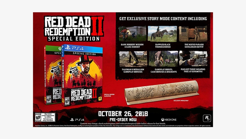 Red Dead Redemption 2 Special Edition - Rdr 2 Special Edition, transparent png #6210167