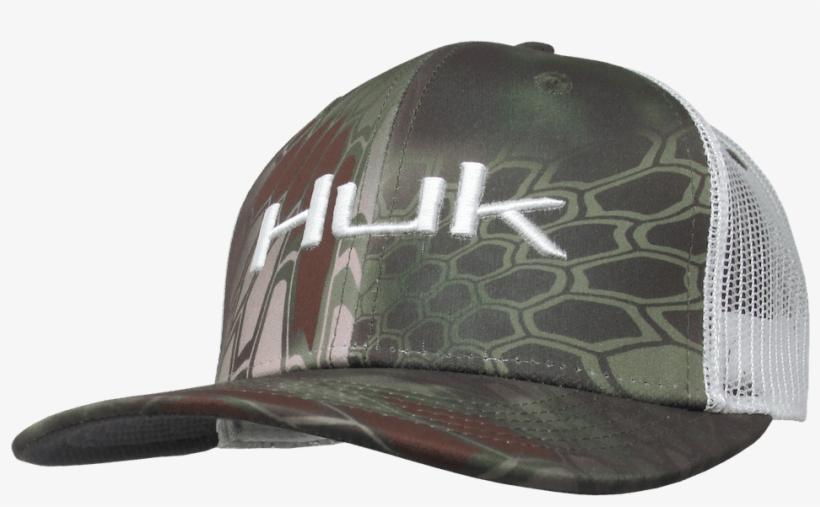 Huk Kryptek Logo Trucker Hat [mandrake] - Huk Fishing Hats, transparent png #6230224