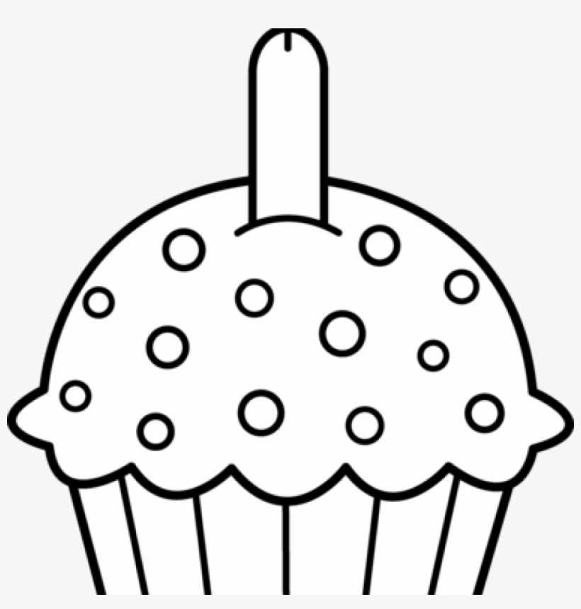 Cupcake Clipart Black And White Best Cupcake Clipart Birthday Cupcake Coloring Pages Free Transparent Png Download Pngkey
