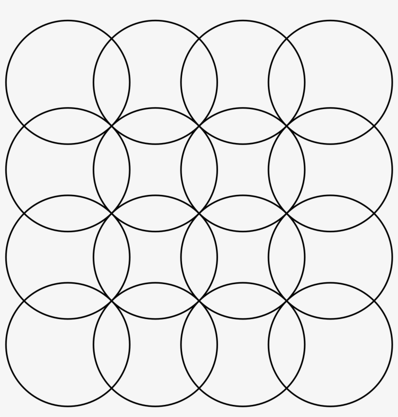 Overlapping Circles Grid - Overlapping Circle Grid, transparent png #6250419