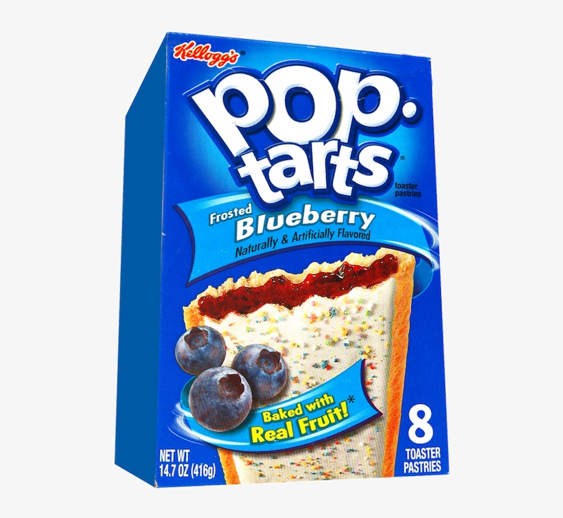 Kellogg's Pop Tarts Blueberry - Frosted Pop Tarts Strawberry, transparent png #6251682