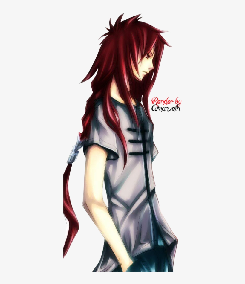 Red Hair Anime Guy Anime Long Hair Anime Hair Boys Anime Boy With Long Red Hair Free Transparent Png Download Pngkey