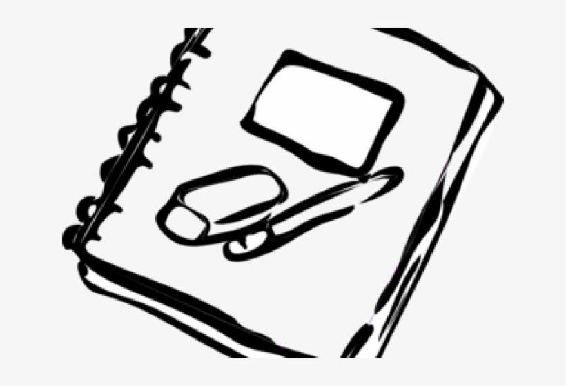 School Supplies Clipart - Notebook Clip Art, transparent png #6262246