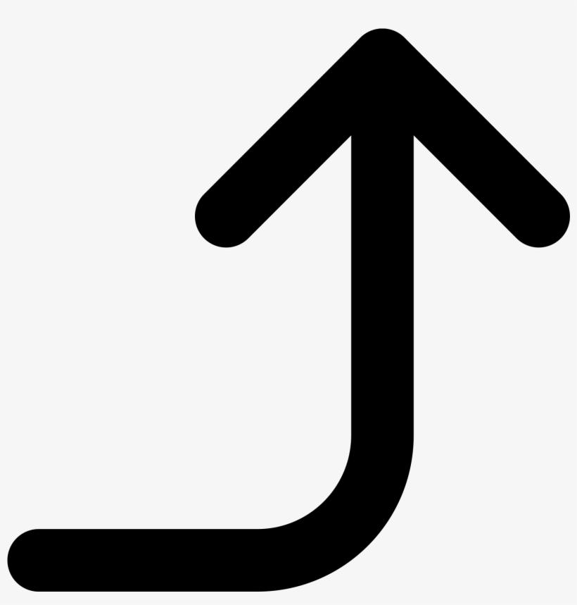 Up Arrow Key Symbol - Arrow Right And Upwards, transparent png #6270116