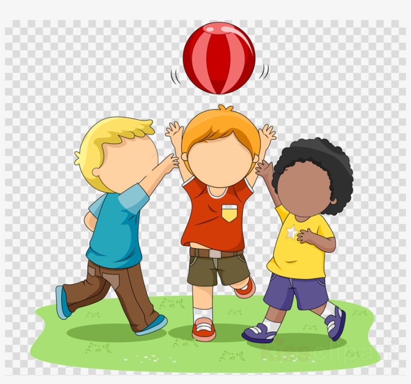 Children Playing Clip Art Clipart Child Clip Art - Kids Playing Ball Clip Art, transparent png #6275509