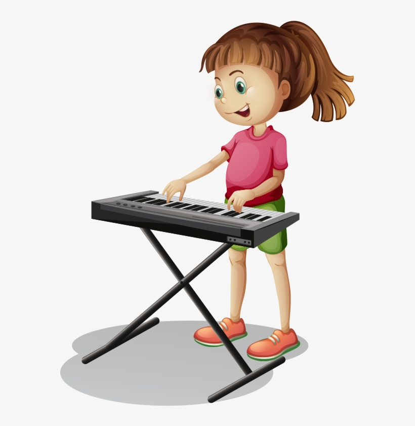 Piano Cartoon Stock Photography - Kids Playing Musical Instruments, transparent png #6275649