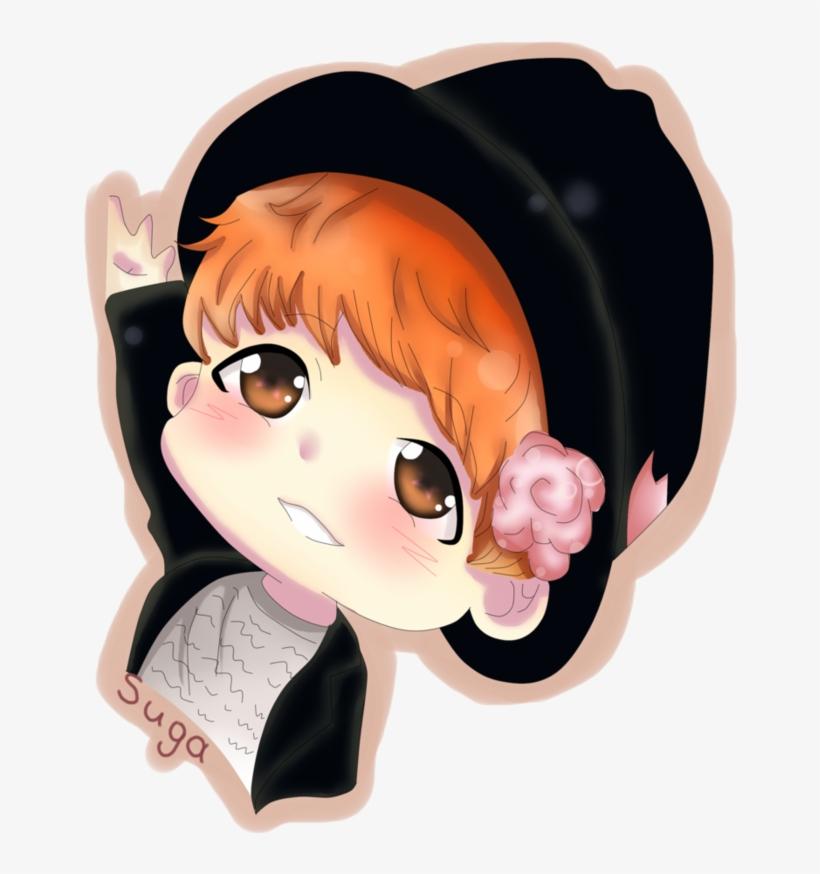Bts Chibi Fan Art Bts Chibi Suga Mini Anime Free Transparent Png