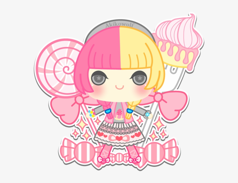 Graphic Freeuse Vector Candy Sweet - Anime Candy Girl Chibi, transparent png #6289984