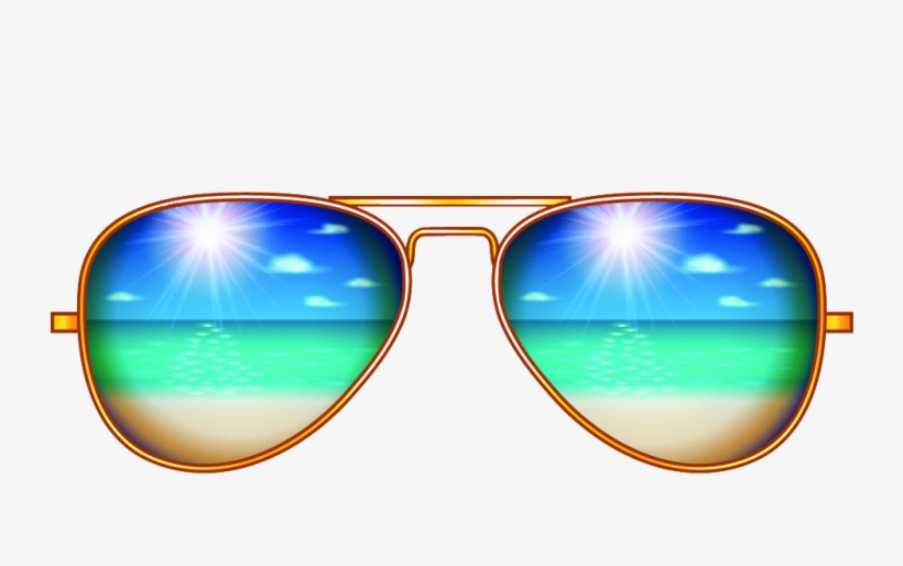 Creative Sunglasses Aviator Illustration Sunscreen - Sun Glass Png On Picsart, transparent png #6294277