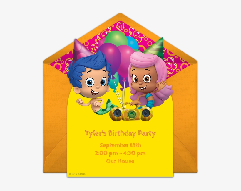 Bubble Guppies Birthday Online Invitation