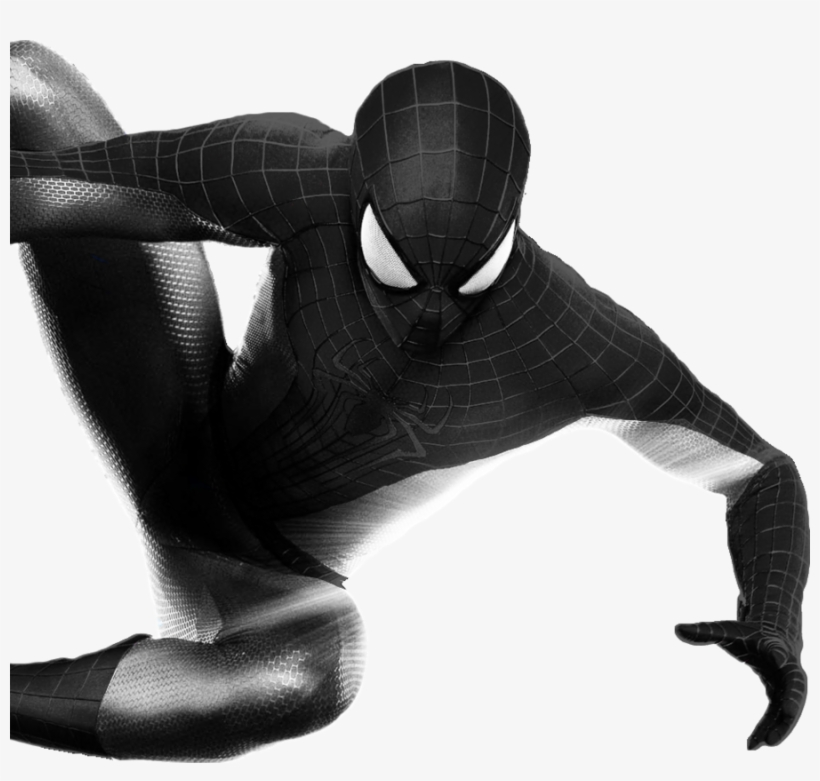 Download Spiderman Black And White Transparent Clipart - Spider Man Black Png, transparent png #630230