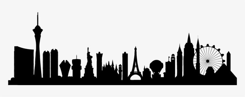 Skyline Transparent Las Vegas Jpg Free Stock - Las Vegas Silhouette, transparent png #630827