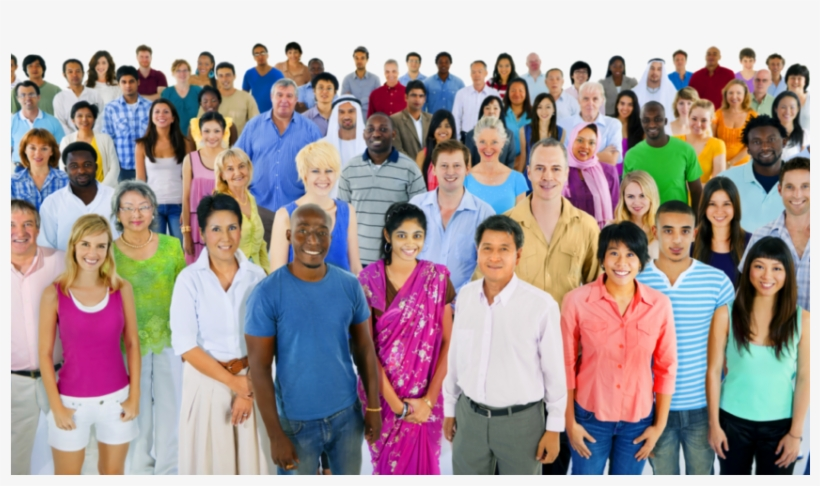 Crowd Png 1 850×549 - Group Of Ethnic People, transparent png #631131