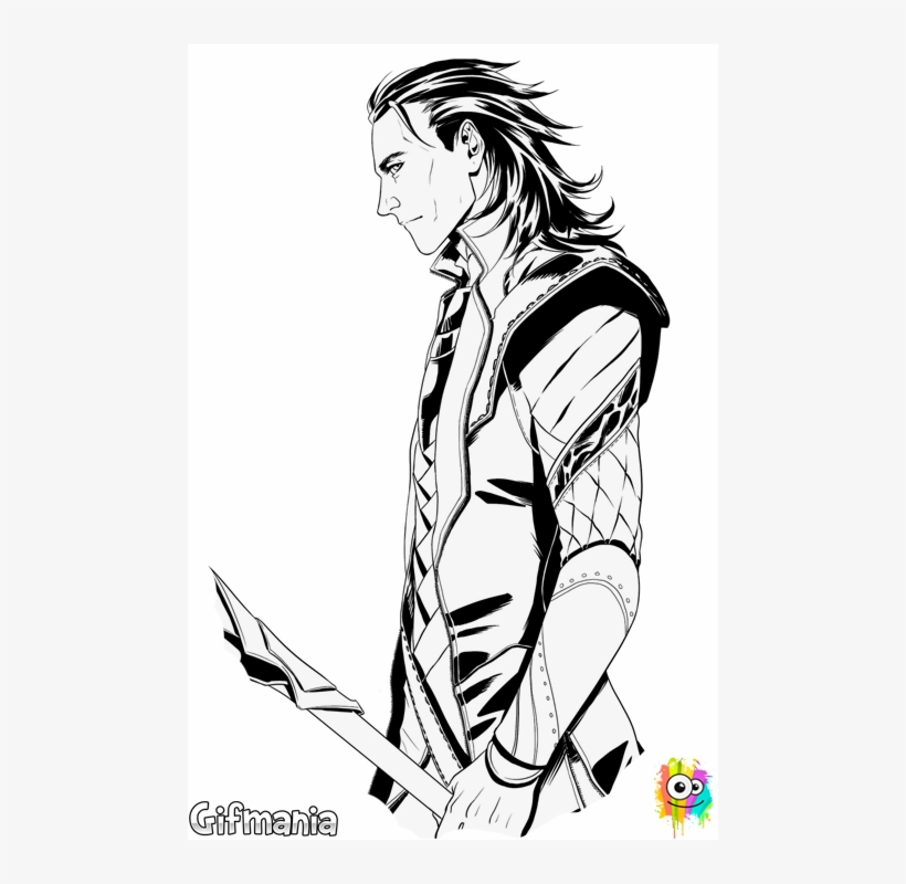 Loki, Thor's Brother, Arrives With His Coloring Page - Loki Coloring Page, transparent png #632145