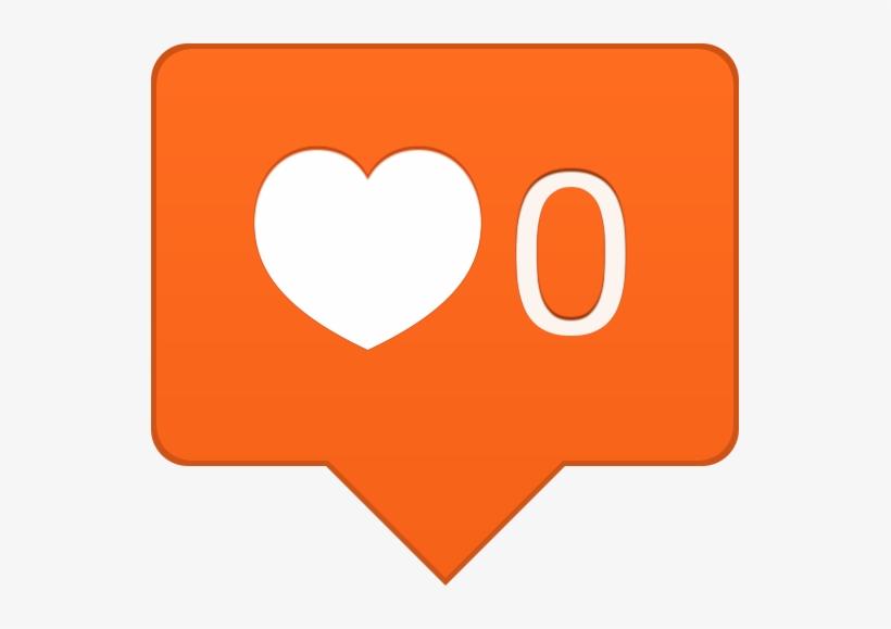 Love Transparent Instagram - Instagram Orange Heart Icon, transparent png #633169