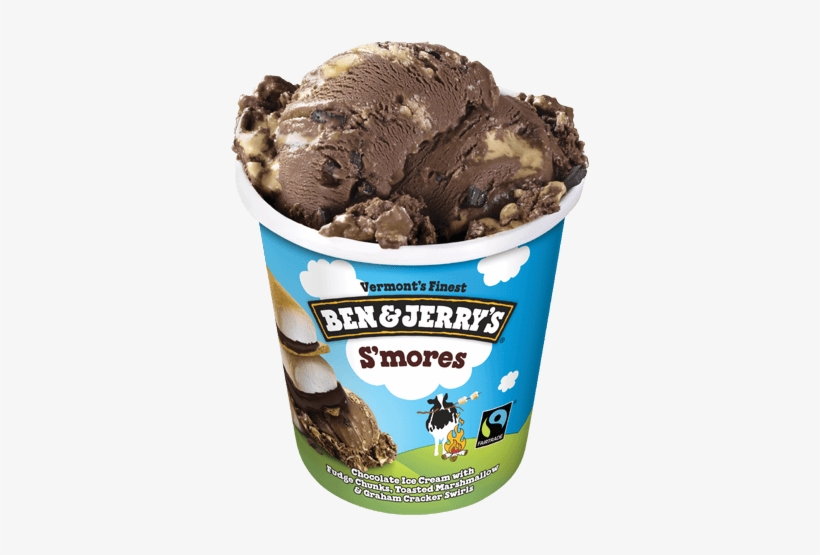 S'mores Pint - Ben And Jerry's Half Baked, transparent png #634200