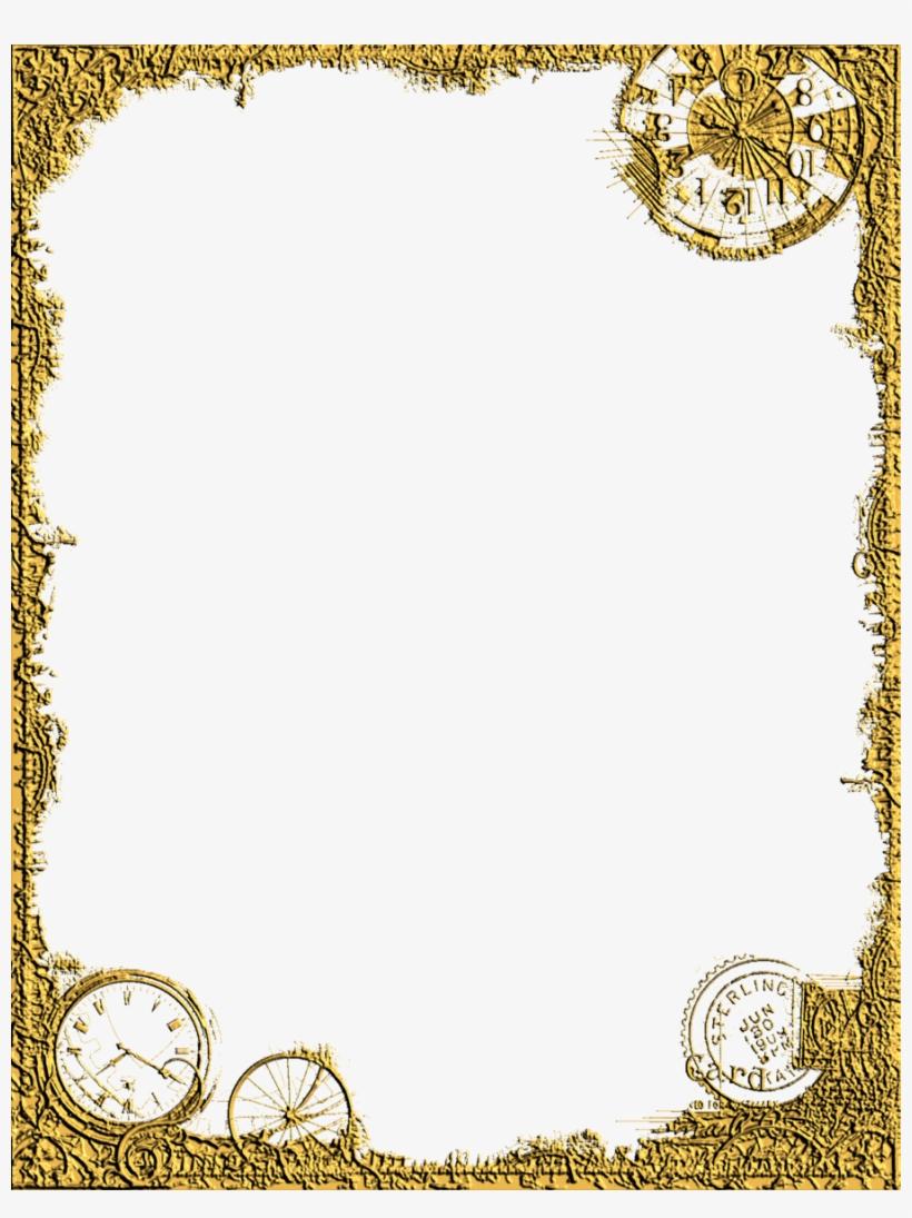Corner Design Png - Gold Frame Clipart, transparent png #637354